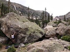 Rock Climbing Photo: Sending Northwest Corner.  Warm-up Cave can be see...