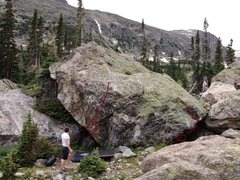 Rock Climbing Photo: Northwest Corner on the left and Warm-up Cave on t...
