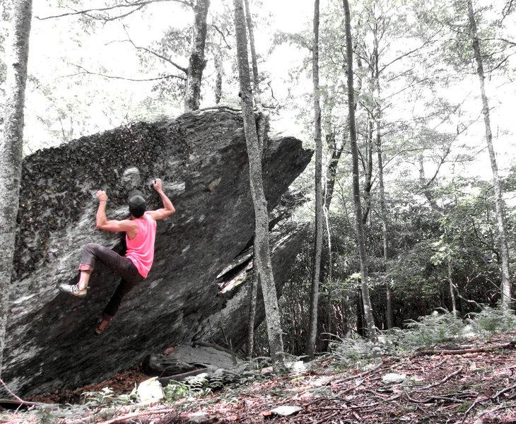 Rock Climbing Photo: Revolver Arête FA