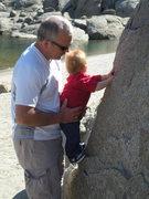 Rock Climbing Photo: A Good Smear is a Godsend