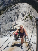 Rock Climbing Photo: The Wife rocking Half Dome, the trendy route.