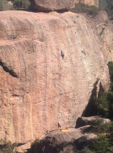 Rock Climbing Photo: Near the top of Subterranean Tango. Taken from aro...