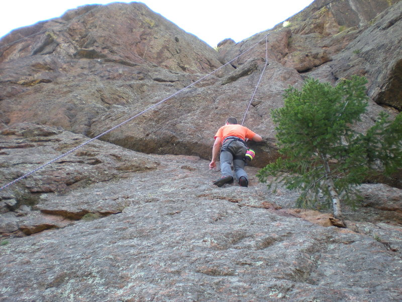 Rock Climbing Photo: Ryan on ________ North Cheyenne Canyon, Colorado S...