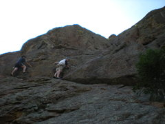 Rock Climbing Photo: Curt on ________. Karbo free soloing beside him on...