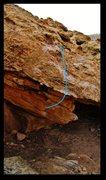 Rock Climbing Photo: Booby Blues problem beta.