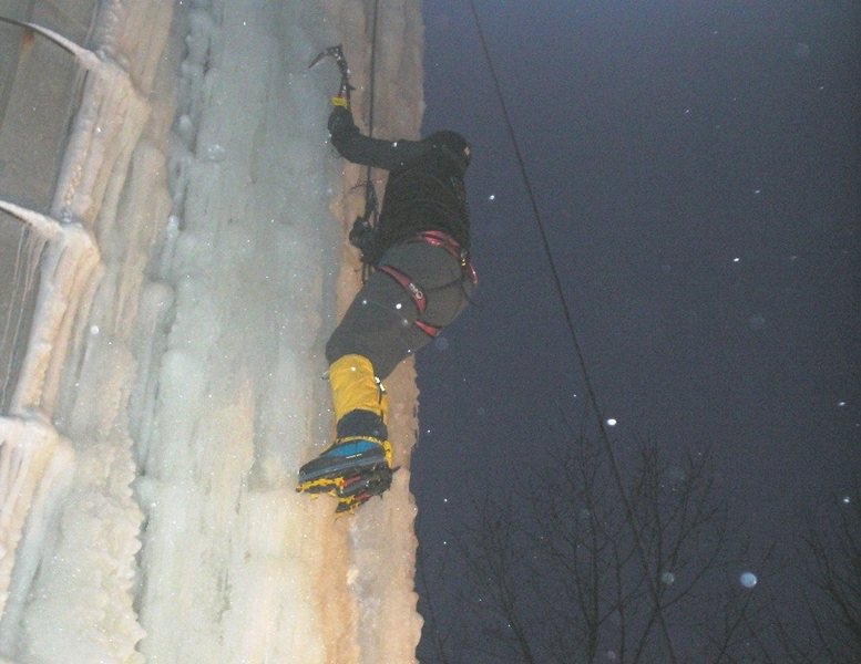 Rock Climbing Photo: night ice climbs