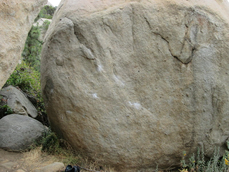 Lizard Corner. The boulder to the left is Retropulsion.