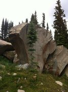 Rock Climbing Photo: Cobra Boulder (just made that up) located near Mid...