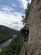 Rock Climbing Photo: Janine on p3 of Pete's Farewell
