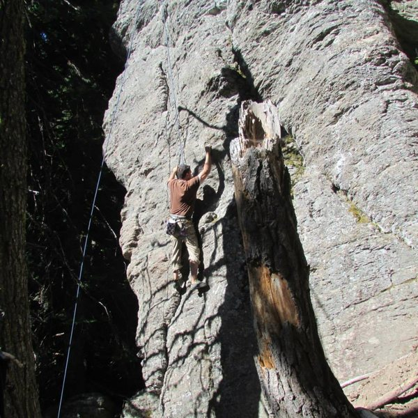 Rock Climbing Photo: This is between the 1st and 2nd bolt (there are on...