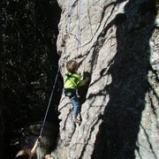 Rock Climbing Photo: Arlo (age 5) busting a serious move on Silence of ...