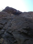 Rock Climbing Photo: At the roof.