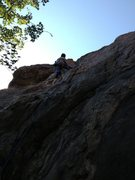 Rock Climbing Photo: Midway up.