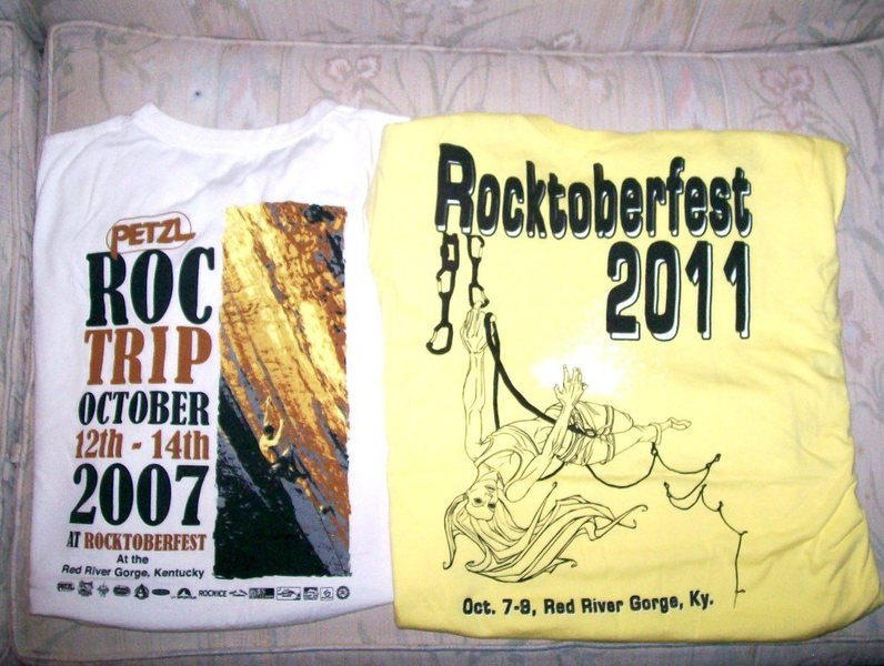 The great shirts of the Red River Gorge RocktoberFests each fall.