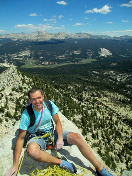 Rock Climbing Photo: on top of cathedral, tuolumne CA
