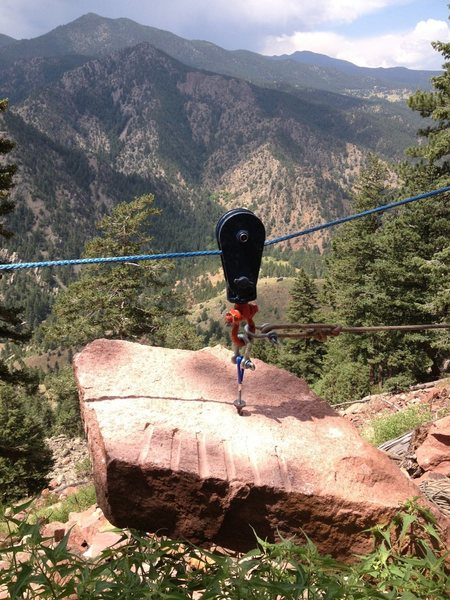 Rock Climbing Photo: 350-pounder on the line.