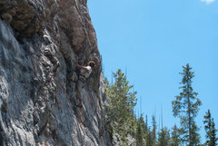 Rock Climbing Photo: Mike Fitzpatrick approaching the second roof on Da...