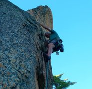 Rock Climbing Photo: Mike Arechiga on a new 5.9 at Dreamscape Domes