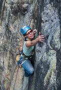 Rock Climbing Photo: Vanessa Logsdon focusing hard.