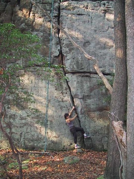 "Rock Climbing Photo: ""Tonto Crack"" ,Tomahawk Boulder"