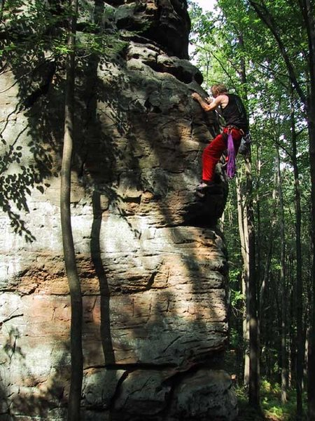 "Soloing ""Solo"",  Tomahawk Boulder"