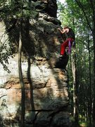 "Rock Climbing Photo: Soloing ""Solo"",  Tomahawk Boulder"