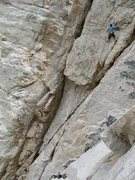 Rock Climbing Photo: Mr. Ridiculous, 11a, Pine Creek, Eastern Sierra