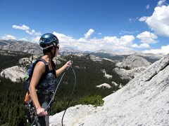 Rock Climbing Photo: At the start of On The Lamb in Tuolumne Meadows, Y...