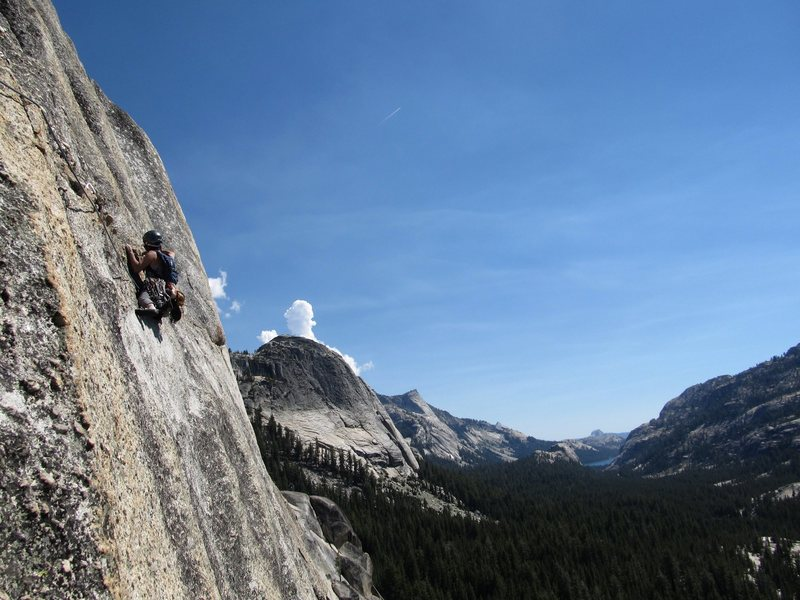 Rock Climbing Photo: On The Lamb, 5.9 in Tuolumne Meadows, Yosemite.