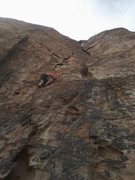 Rock Climbing Photo: John Riggs leading New Era, Grey Rock, GOG, Colora...