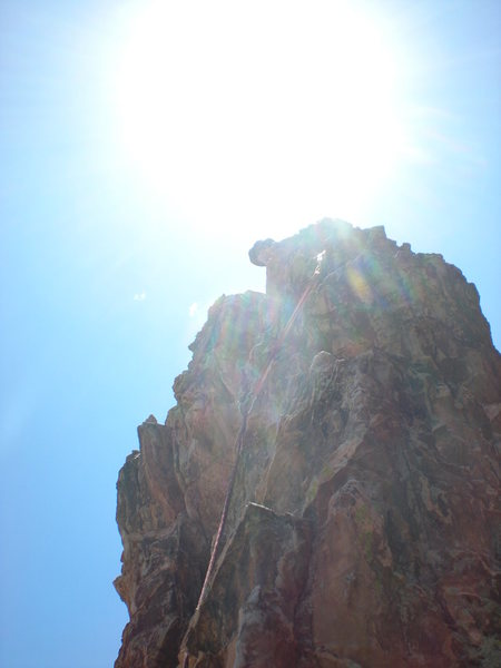 John Riggs belaying the Summit of Grey Rock, GOG, Colorado Springs, CO.