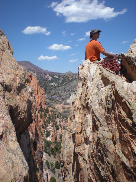 John Riggs, sitting atop the Summit of Grey Rock via New Era, GOG, Colorado Springs, CO.