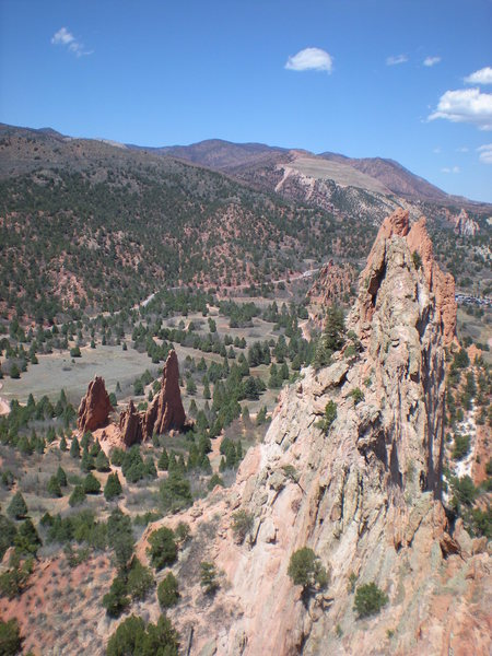 A view atop Grey Rock looking North, GOG, Colorado Springs, CO.