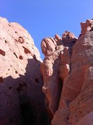 Rock Climbing Photo: Atop pitch 2, looking at the seldom climbed pitch ...