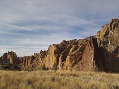 Rock Climbing Photo: The Amazing View from the Bivi site, Smith Rock, T...
