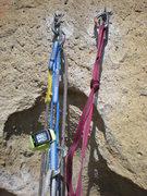 Rock Climbing Photo: Ye Olde Belay Setup at pitch 1, Zebra Zion, Smith ...