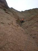 Rock Climbing Photo: Pitch 3, before the Traverse linkup of Zebra Zion,...