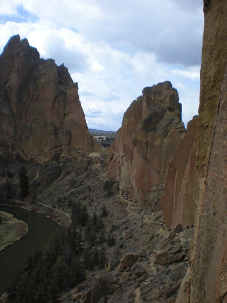 A view from the Wall, Zebra Zion, Smith Rock, OR.