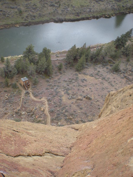 Rock Climbing Photo: View from pitch 4, Zebra Zion, Smith Rock, OR.