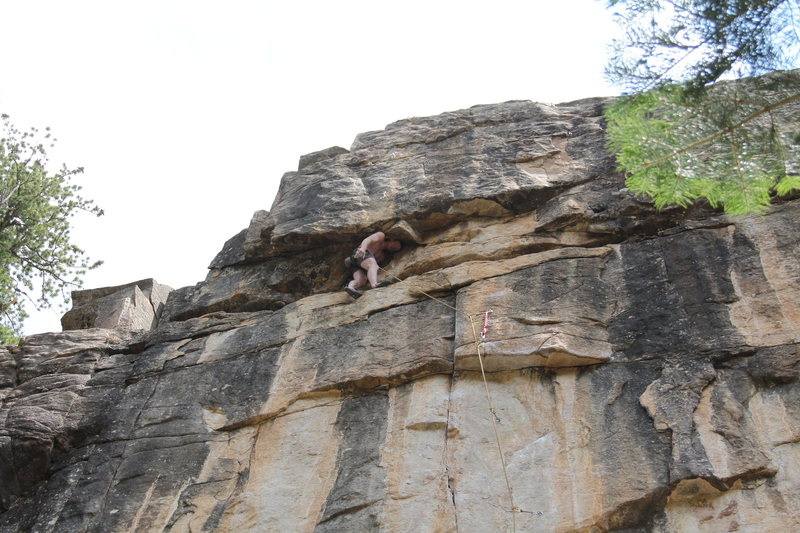Rock Climbing Photo: Ben K. in the no hands rest.