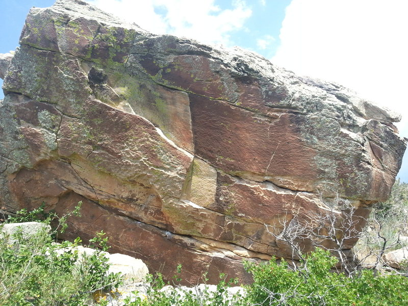 Rock Climbing Photo: West Face of the Sunshine Boulder.