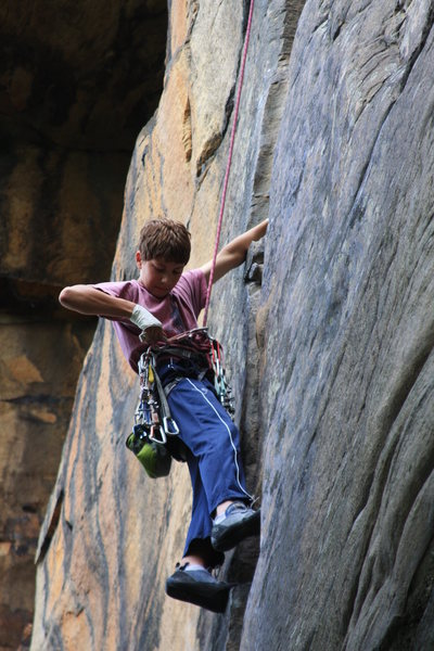Rock Climbing Photo: Pulling the gear on Zag