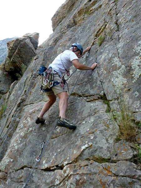 Rock Climbing Photo: Pete on Lenny's Route (my vote for the route name ...