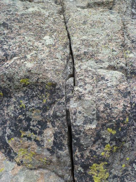 Rock Climbing Photo: The crux crack.