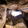 Time to be born again!  Only have to get through this hole to get to the top!