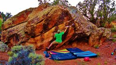 Rock Climbing Photo: Brad getting jiggy with it on Hellava Half Life.