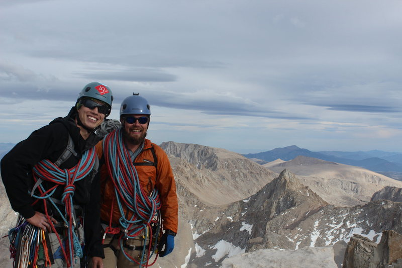 Standing atop the Lower 48 having completed Mt. Whitney's East Buttress (Direct)!