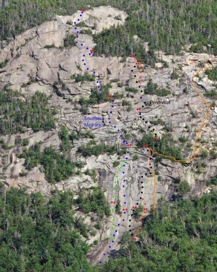 Rock Climbing Photo: Orange line and black loops belays.