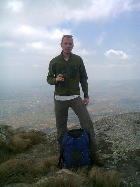 Rock Climbing Photo: Mike Dalious, Zomba Plateau.  Head of the Sphinx
