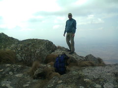 Rock Climbing Photo: John Bradford, Zomba PLateau 2012